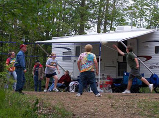 Camping at Irvington Campground in Menomonie Wisconsin