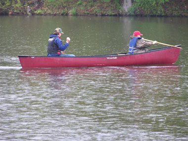 Canoing on Red Cedar River